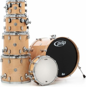 DW PDP Concept Maple CM6 Studio Shell Set Natural