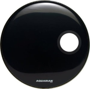 AQUARIAN Ported Bass Off Set Hole Black 18""