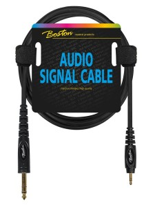 BOSTON AC-262-300 jack 3,5mm/jack 6,3mm stereo 3m