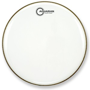 AQUARIAN Classic Clear Snare Bottom 12""