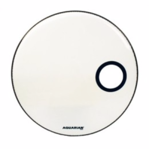 AQUARIAN Ported Bass Off Set Hole White 18""